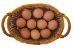 Ovos em um busket Fotografia de Stock Royalty Free