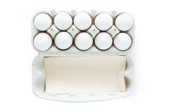 Ovos em um cartão, trajeto de grampeamento Imagem de Stock