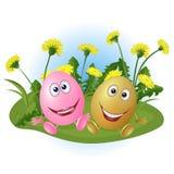 Ovos em um gramado Fotos de Stock