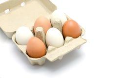 Ovos em um pacote da caixa Foto de Stock