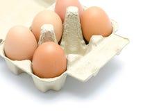 Ovos em um pacote da caixa Imagens de Stock