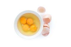 Ovos em uma bacia Fotografia de Stock Royalty Free