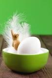 Ovos em uma bacia para easter Imagem de Stock