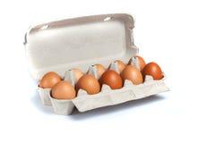 Ovos em uma bandeja Foto de Stock Royalty Free