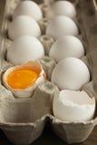 Ovos em uma caixa fotos de stock royalty free