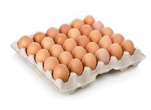 Ovos em uma caixa fotografia de stock