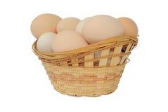 Ovos em uma cesta Imagens de Stock Royalty Free