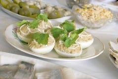 Ovos enchidos Fotos de Stock Royalty Free