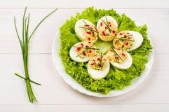 Ovos enchidos imagem de stock