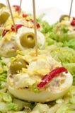 Ovos enchidos do espanhol foto de stock
