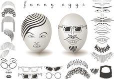 Ovos engraçados Imagens de Stock