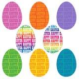 Ovos felizes da tipografia de easter Foto de Stock Royalty Free