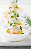 Ovos fervidos com maionese Fotos de Stock Royalty Free