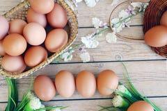Ovos frescos fotos de stock