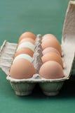 Ovos frescos da exploração agrícola na caixa Foto de Stock