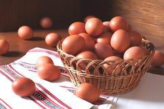 Ovos frescos da galinha Imagem de Stock Royalty Free