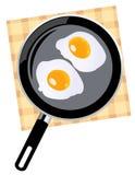 Ovos fritados Imagem de Stock