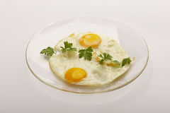 Ovos fritados Foto de Stock