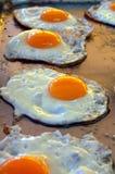 Ovos fritados Fotografia de Stock