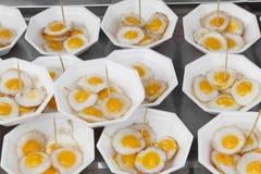 Ovos fritados das codorniz Foto de Stock
