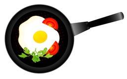 Ovos fritados deliciosos Fotografia de Stock