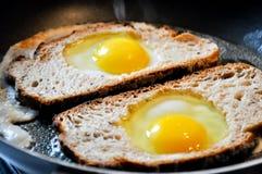 Ovos fritos Fotografia de Stock