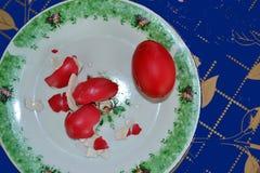 Ovos inteiros e escudos de ovo fotografia de stock royalty free