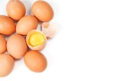 Ovos isolados no fundo branco Foto de Stock Royalty Free