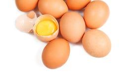 Ovos isolados no fundo branco Fotos de Stock