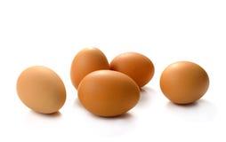 Ovos isolados no fundo branco Imagem de Stock