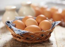 Ovos marrons frescos Fotografia de Stock Royalty Free