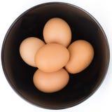 Ovos na bacia Foto de Stock