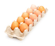 Ovos na bandeja Fotos de Stock