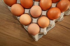 Ovos na bandeja Imagem de Stock