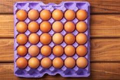 Ovos na bandeja de papel Imagem de Stock Royalty Free