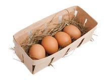 Ovos na caixa Fotografia de Stock Royalty Free