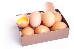 Ovos na caixa Imagem de Stock Royalty Free
