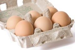 Ovos na caixa de papel do ovo Imagem de Stock Royalty Free
