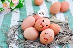 Ovos na cara da expressão Fotos de Stock Royalty Free