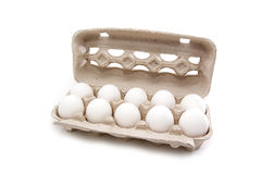 Ovos na embalagem Imagem de Stock