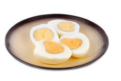 Ovos na placa Fotografia de Stock