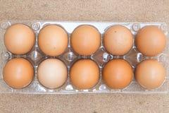 Ovos no pacote fotografia de stock
