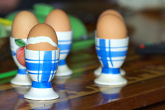 Ovos nos apoios Fotografia de Stock