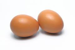 Ovos orgânicos Alimento biológico em Tailândia Fundo branco imagem de stock royalty free