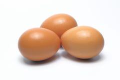 Ovos orgânicos Alimento biológico em Tailândia Fundo branco foto de stock