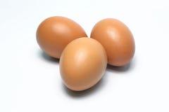 Ovos orgânicos Alimento biológico em Tailândia Fundo branco fotografia de stock