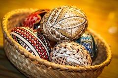 Ovos pintados Fotografia de Stock