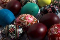 Ovos pintados para a Páscoa, os ovos da páscoa ucranianos e os ovos da páscoa o Fotografia de Stock