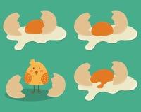 Ovos quebrados ilustração stock