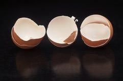 Ovos quebrados foto de stock royalty free